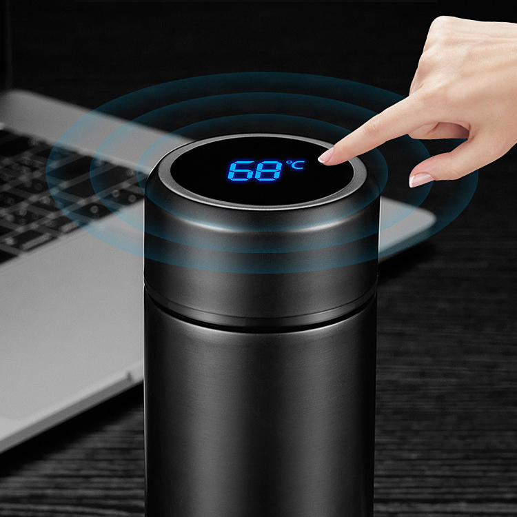 Vacuum Flask Smart Kettle LCD Stainless Steel Touch Screen Display Temperature Vacuum Flask Water Bottle Keep Warm Office Cup