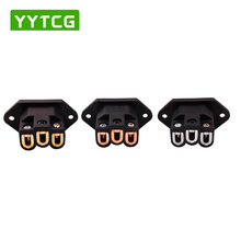 YYAUDIO  AC IEC Inlet Socket pure copper Gold Plated HIFI Power