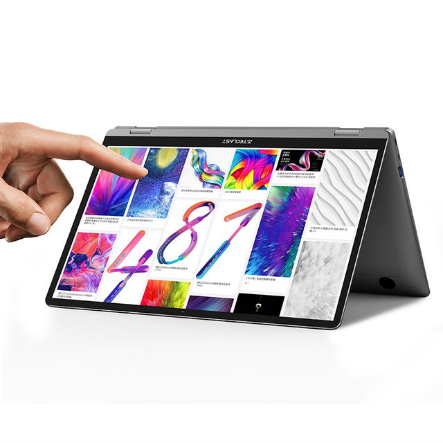 Teclast Newest Laptops F6 Plus 13.3 inch Notebook Gemini Lake 8GB LPDDR4 256GB SSD Windows 10 Laptop 360° Rotation Touch Tablet Computer, Office & Security