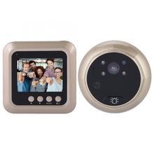 2.4 polegadas 1080p inteligente campainha da porta elétrica sem fio digital espectador porta de segurança olho mágico campainha câmera