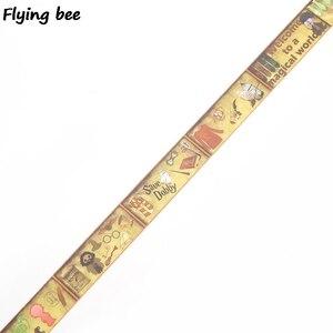 Image 2 - 20 sztuk/partia Flyingbee 15mmX5m akademia magii Washi taśma klejąca DIY dekoracyjna taśma klejąca artykuły papiernicze taśmy maskujące materiały X0288