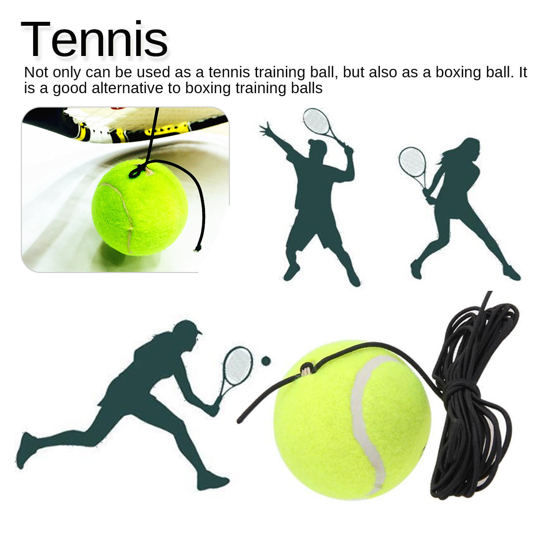 Tennis Self-study Rebound Ball Tennis Trainer Floor Tennis Training Main Tool Exercise