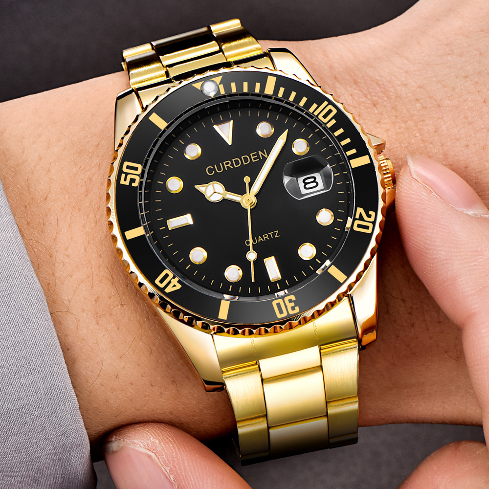 Permalink to Watch men CURDDE Quartz Analog Wrist Watch Military Stainless Steel Date Sport digital watch relogio digital часы мужские