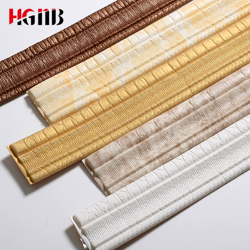 TV Background Wall Border Decorative Strips Stickers Skirting Waist Line Self Adhesive Skirting Wall Stickers Soft Lines