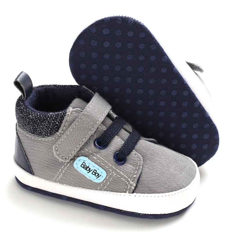 4 Colors Autumn Fashion Baby Boys Shoes Anti-Slip Children Casual Sneakers Canvas Toddler Soft Soled First Walkers 1 Pair