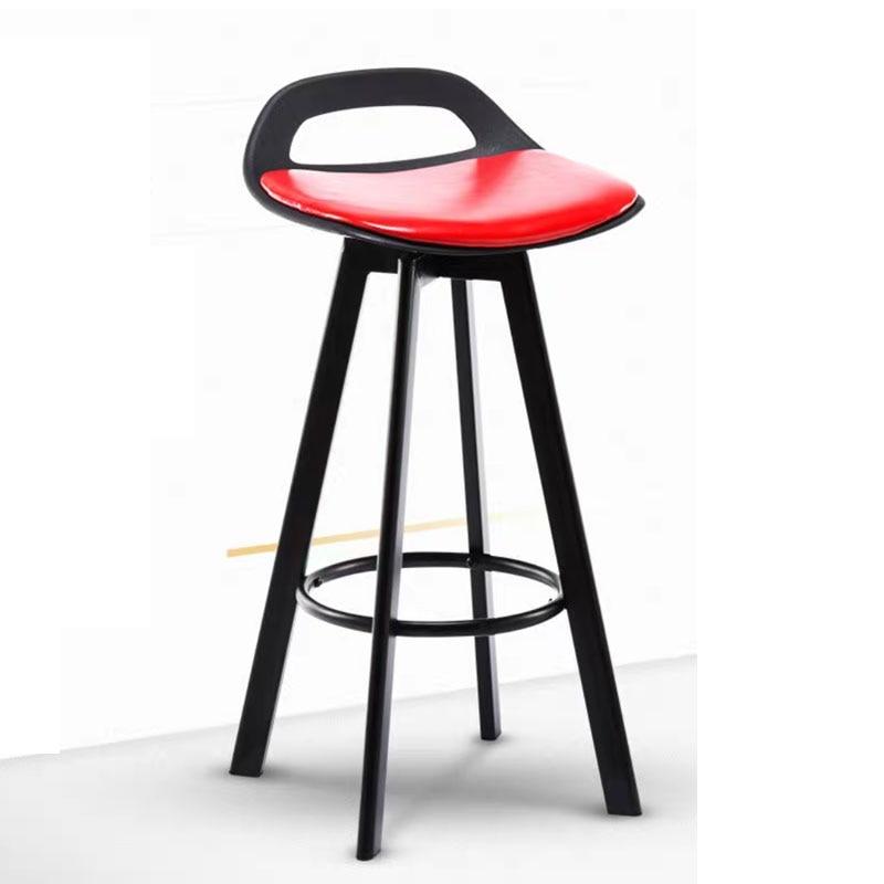 Modern Solid Wood Rotatable Bar Chair Fashion Creative Simple Bar Home Counter Leisure Non Slip Foot Pad High Chair