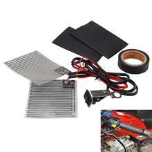 Kit de mango de calefacción eléctrica para motocicleta de 12V almohadillas de agarre térmico + cinta resistente al calor + almohadillas de manillar resistentes al calor