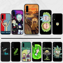 rick and morty Cover Black Soft Shell Phone Case For Huawei Y5 Y6 II Y7 Y9 PRIME 2018 2019 NOVA3E P20 PRO P10 Honor 10(China)