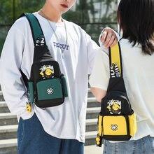 3 Colors Pokemon Shoulder Bag Men Women Go Sling Chest Pack Canvas Sports Pikachu Teens Crossbody Handbags Chest Belt Waist Pack