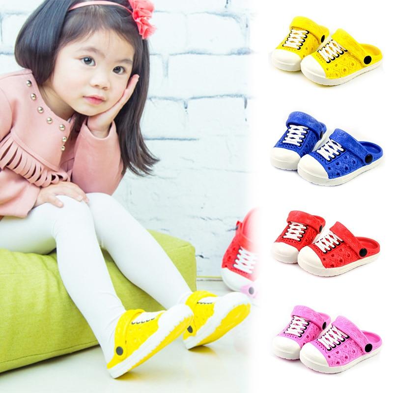 1 Pair Children Kids Slippers Sandals Anti-slip Breathable For Summer Beach New Design