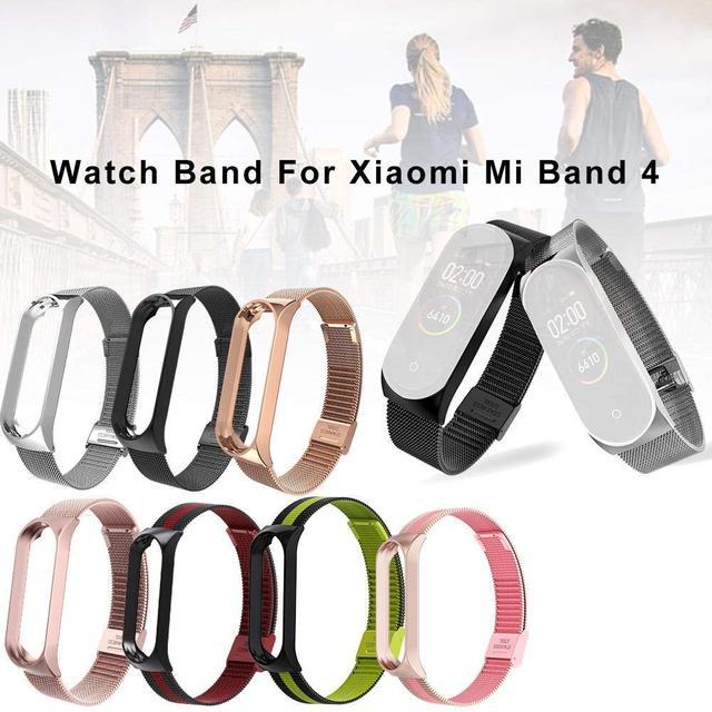Strap For Xiaomi Mi Band 3 4 Wrist Metal Bracelet Screwless Stainless Steel MIband for Mi Band 4 3 Strap Wristbands Pulseira 2
