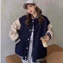 Женская куртка на все сезоны 2021, Студенческая бейсбольная форма, новая Корейская версия свободного кроя, бархатный плотный свитер, Женская ...