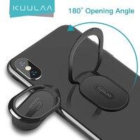 KUULAA-minianillo de Metal para teléfono móvil, soporte portátil magnético para teléfono iPhone