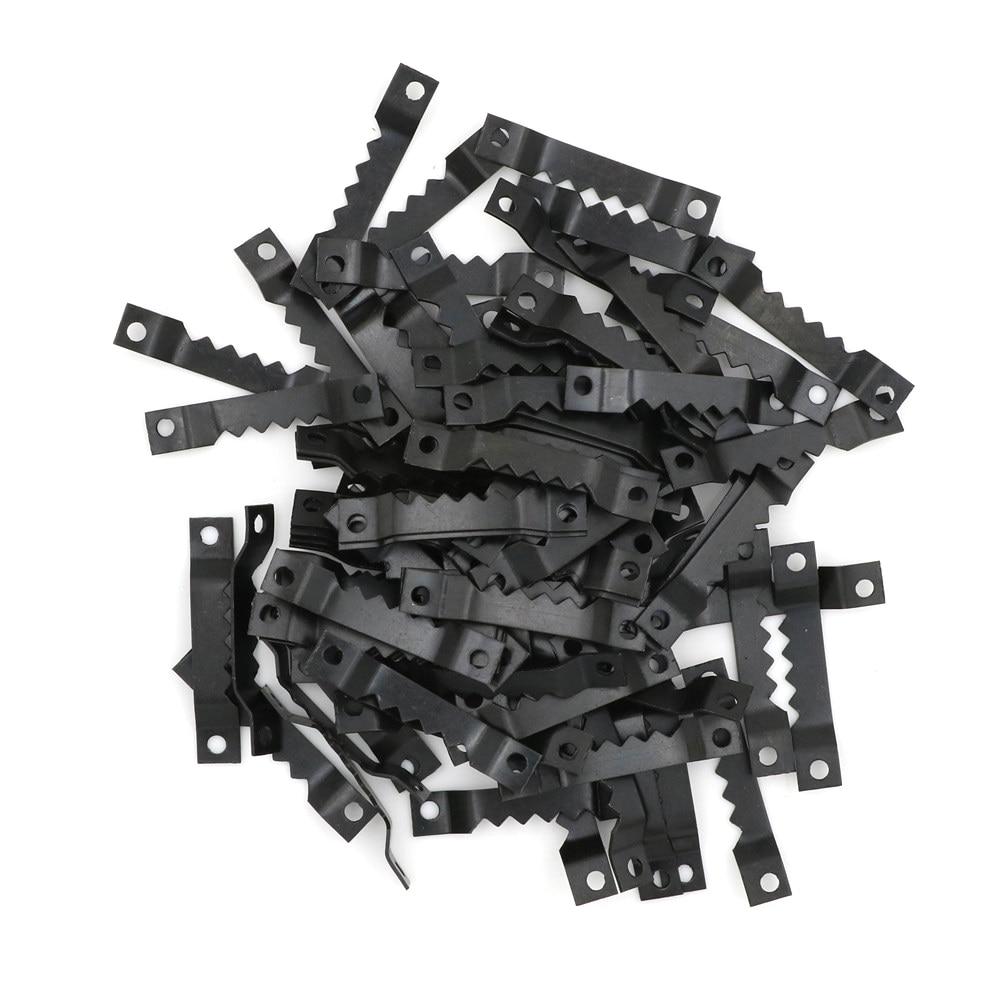 100 шт./лот 40*7 мм черный без гвоздя рамка крючки для картин пилы зуб вешалки