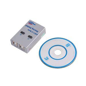 2 порта USB 2,0 автоматический распределительный Переключатель концентратор разветвитель селектор переключатель для принтера Сканер ПК пери...