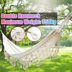 Nordic Dubbele Hangmat Outdoor Schommel Bed Stoelen Indoor Meubels Katoen Slapen Hamaca Marokko Leisure Opknoping Bed