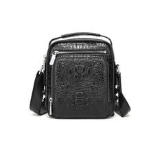 цена на yongzhiyan crocodile leather cross-body men bag spot crocodile business cross-body bag business fashion  men shoulder bag