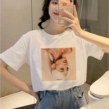 Showtly Ariana Grande T Shirt Women 7 Rings Fashion Harajuku 90s Hip Hop Short Sleeve Ullzang T-shirt Top Tee Female