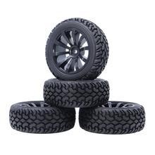 4pcs 1/10 Rally Tires 75MM Wheel Hub Rim Tyre Hex 12mm for 1/10 On Road RC Car HSP HPI Traxxas TRX4 Tamiya Axial Scx10 Kyosho