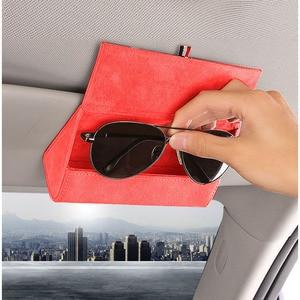 Image 5 - 1pc Auto Zubehör für Mazda Mx5 Beflockung Auto Sonnenbrille Fall Halter Organizer Auto Gläser Box Lagerung Halter Magnetische