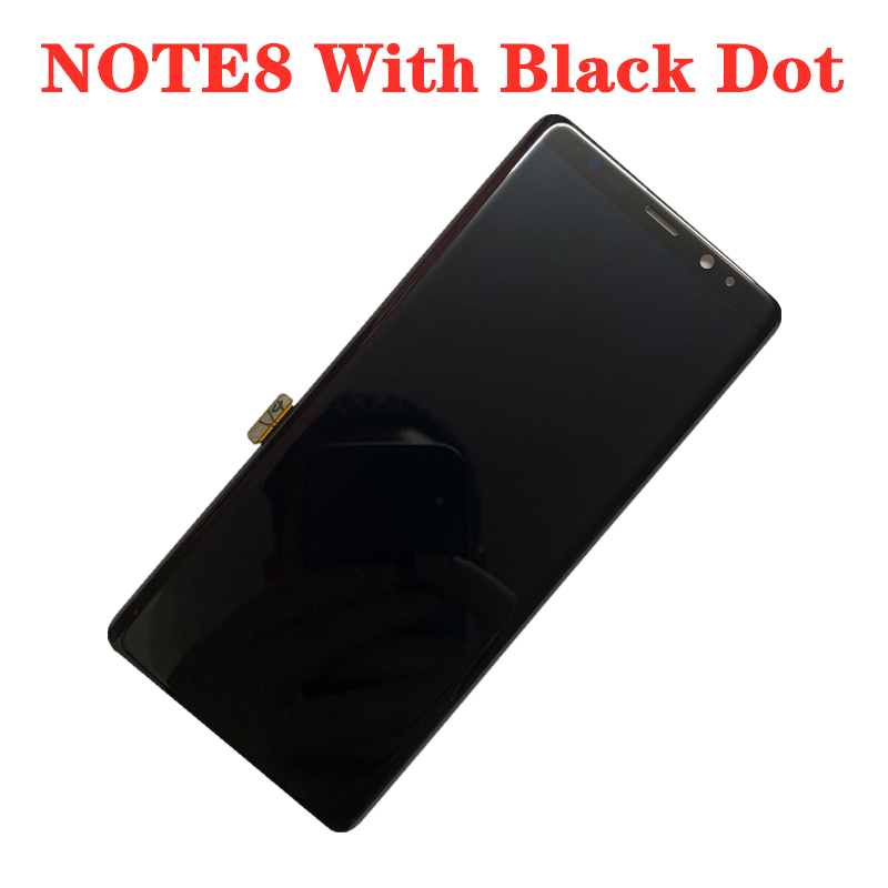 Original AMOLED With Black Dots Display For SAMSUNG Galaxy NOTE8 LCD N950U N950I N950F Display Touch Screen Assembly