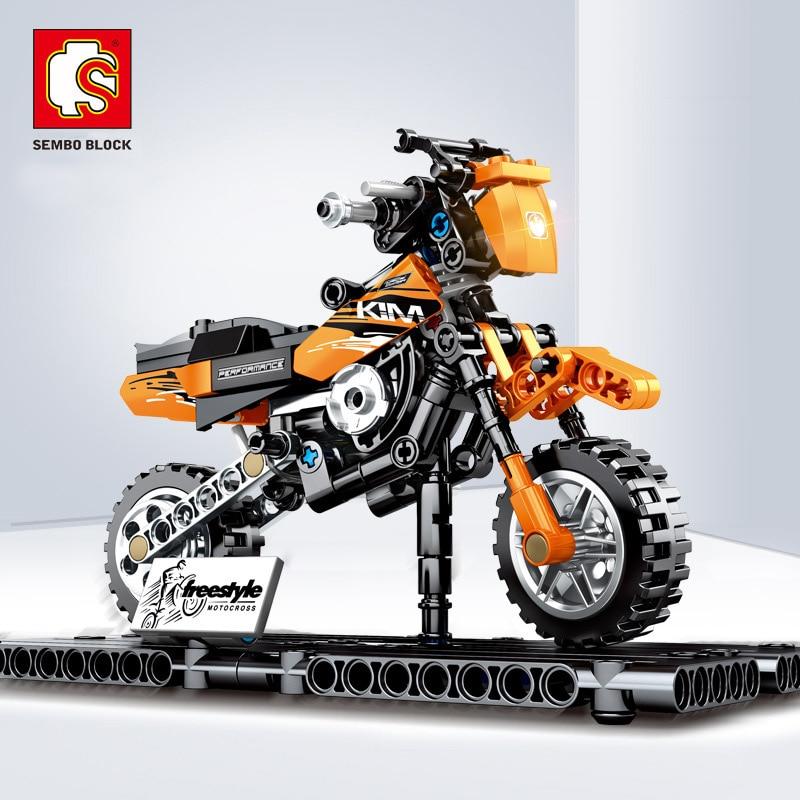 Sembo 2019 NEW Motorcycle Model Building Blocks Compatible Legoed Technic Enlighten City Bricks Toys  For Children Boy Gift