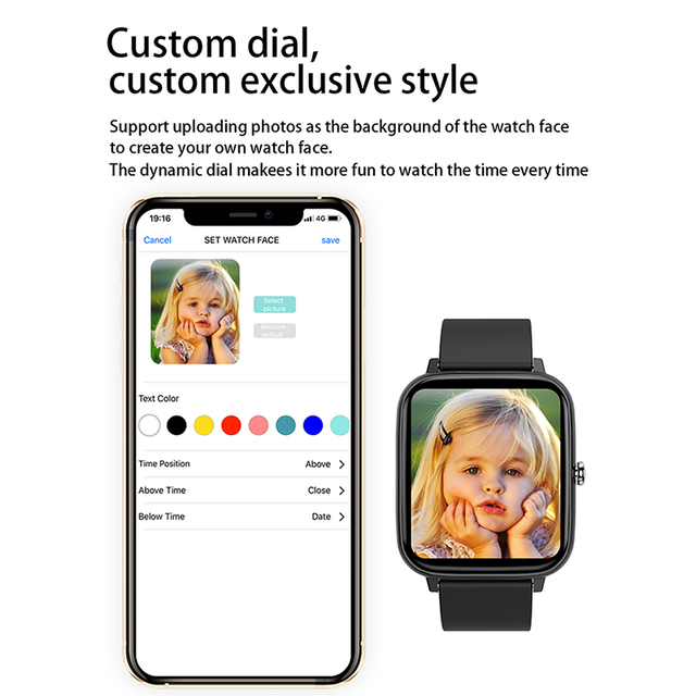 2021 Smart Watch Women Men Heart Rate Fitness Tracker Bracelet Watch Bluetooth Call Waterproof Sport Smartwatch For Android IOS 4