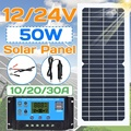 Neue 50w/100w Solar Panel Flexible Mit 10-20A 12V 24V Controller Auto Ladegerät Für RV auto Boot LCD Display PWM Controller