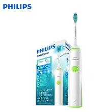Philips HX3216 электрическая зубная щетка Sonicare с легко нажимаемыми головками и светильник показывает состояние батареи для взрослых
