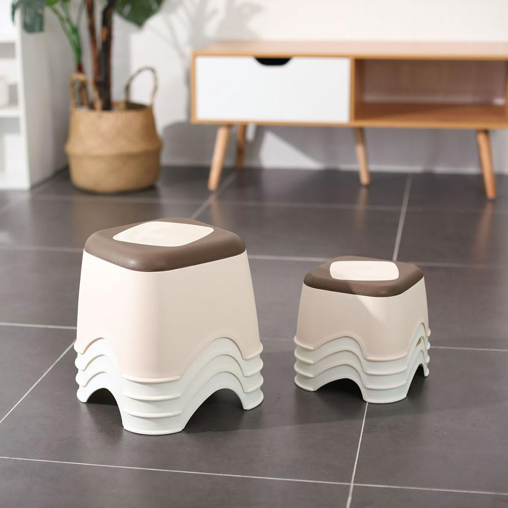 Thicken Plastic Stool Small Chair Non-slip Bath Bench Children Step Stool Changing Shoes Stool Kids Furniture Small Platform