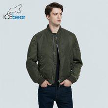ICEbear 2020 nowa wiosna męska krótka kurtka moda płaszcz lotniczy odzież męska wysokiej-marka jakości kurtka MWC20706D tanie tanio CN (pochodzenie) Silk-jak Bawełna Poliester REGULAR Cienkie Suknem zipper NONE Szeroki zwężone Kieszenie Zamki Stałe
