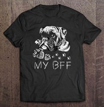 Men T Shirt Boxer My BFF Women t-shirt(China)
