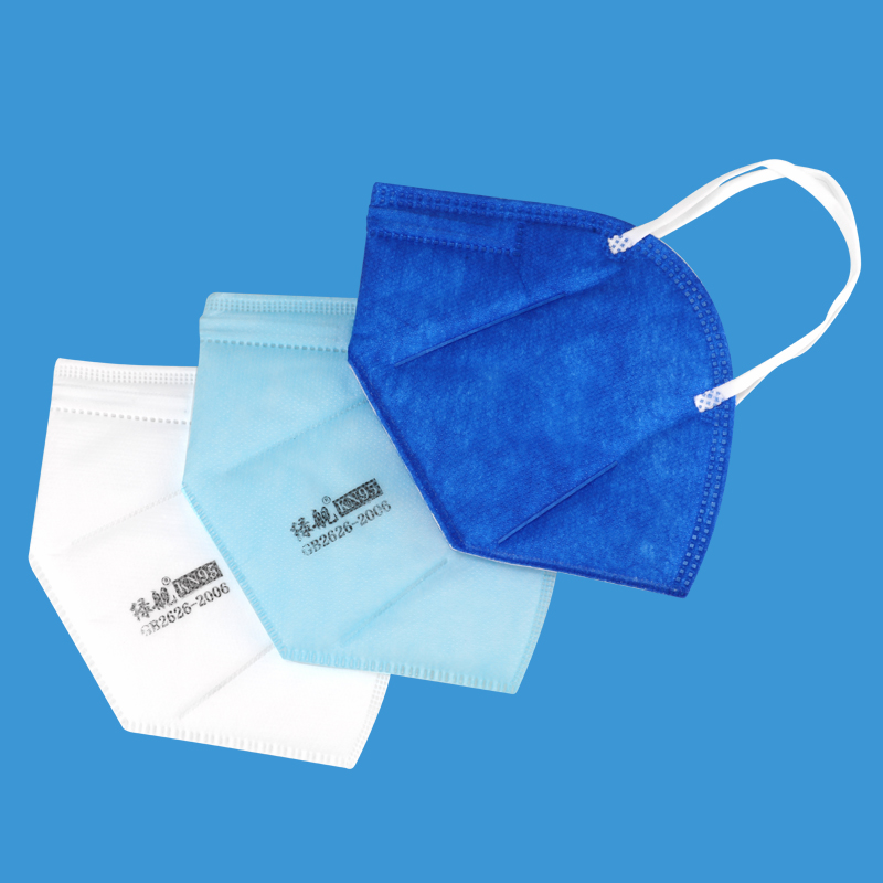 Blue Non-woven Dust Mouth Mask Dustproof Breathable Face Masks 95% Filtration  Protective Mask Features  Earloop Face Masks