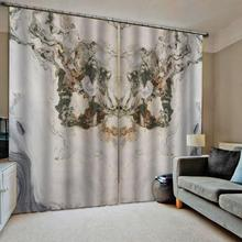 Custom any size photo marble curtains 3D Curtain Luxury Blackout Window Living Room