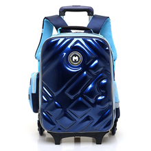 Kids Travel Rolling Luggage Bag School Trolley Backpack Boy On Wheels Girls Wheeled Backpacks Child