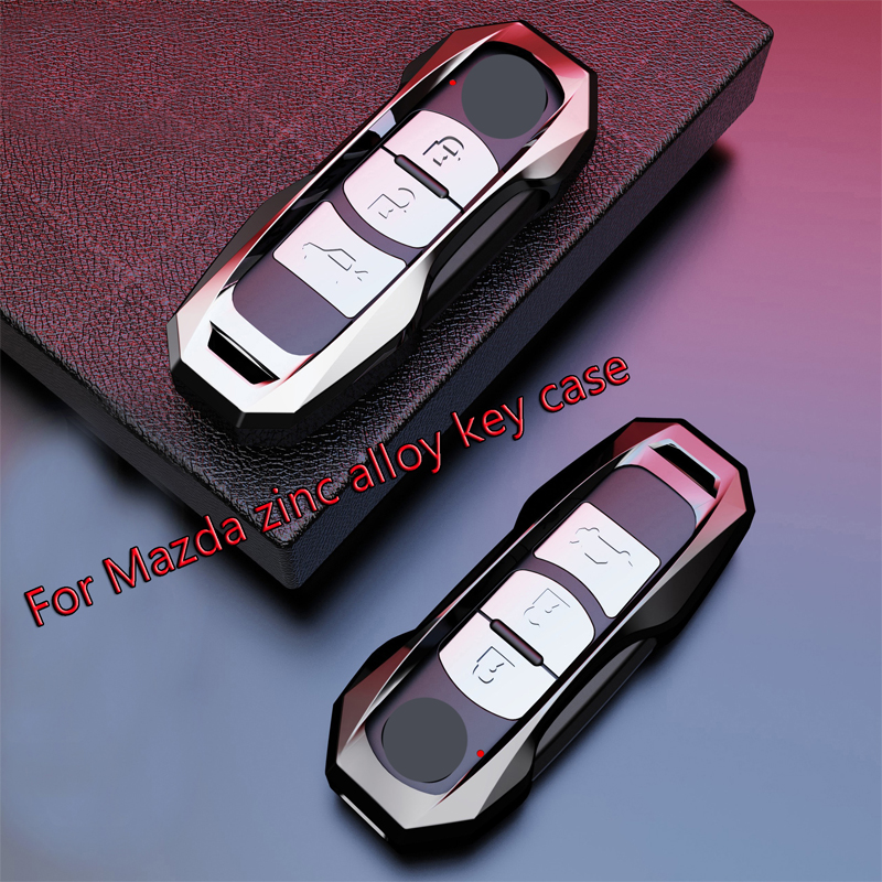 Zinc Alloy Car Key Cover Case Fit for <font><b>Mazda</b></font> 2 3 5 6 2017 <font><b>CX</b></font>-4 <font><b>CX</b></font>-5 <font><b>CX</b></font>-7 <font><b>CX</b></font>-<font><b>9</b></font> <font><b>CX</b></font>-3 <font><b>CX</b></font> 5 <font><b>Accessories</b></font> oncella key chain image