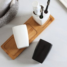 Toothbrush-Holder Washing-Accessory Bathroom Tumblers Couple Mouthwash-Cup Ceramic Nordic