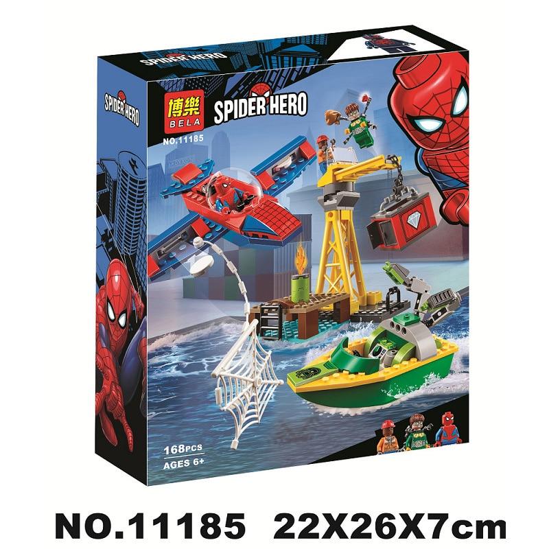 Spider-man: Doc Ock diamant casse blocs de construction jouets briques cadeau Compatible avec Legoinglys Marvel Avengers Super héros 76134