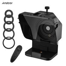 Andoer Tragbare Smartphone DSLR Kamera Teleprompter Prompter mit Fernbedienung für Video Aufnahme Live-Streaming Interview