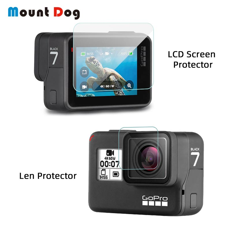 Tempered Glass Protector With Lens Cover Case For GoPro Hero 7 Black 5 6 LCD Screen Protective Film Action Camera Accessories