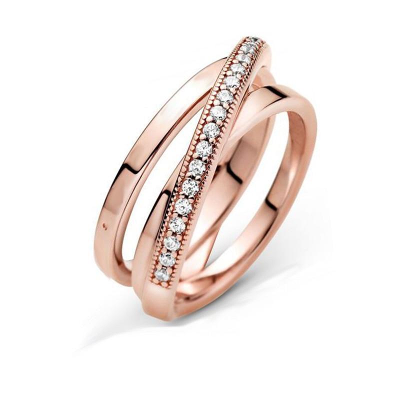 Bague en argent Sterling 2020, Signature croisée sur Triple bande, fiançailles, mariage, bijoux, cadeau, nouveau 925 4