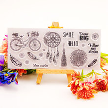 Dreamcatcher Clear Stamps for DIY Scrapbooking Card Silicon Feather Transparent Stamps Making Album paper Craft Decor New Stamps цены
