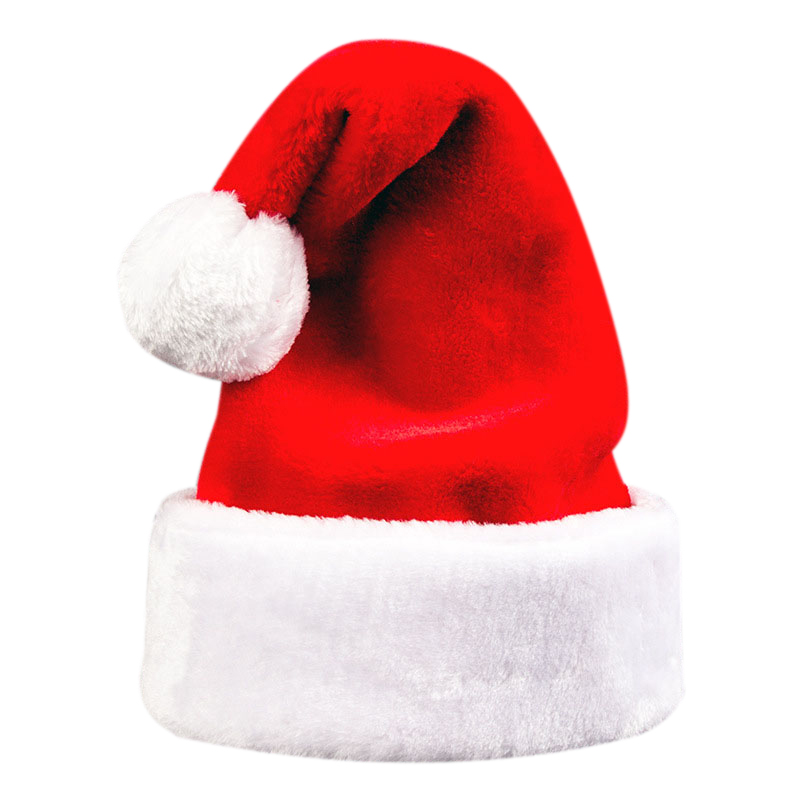 Christmas Hat Red And White Long Plush Santa Hat Festive Party Hat For Adults