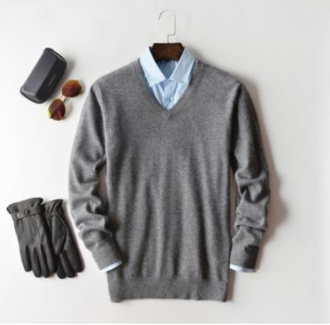 Cashmere Cotton Blend Pullover Men Sweater 2020 Autumn Winter Man Clothes Jersey Sueter Hombre Pull Homme Sweter Mens Jumper 5