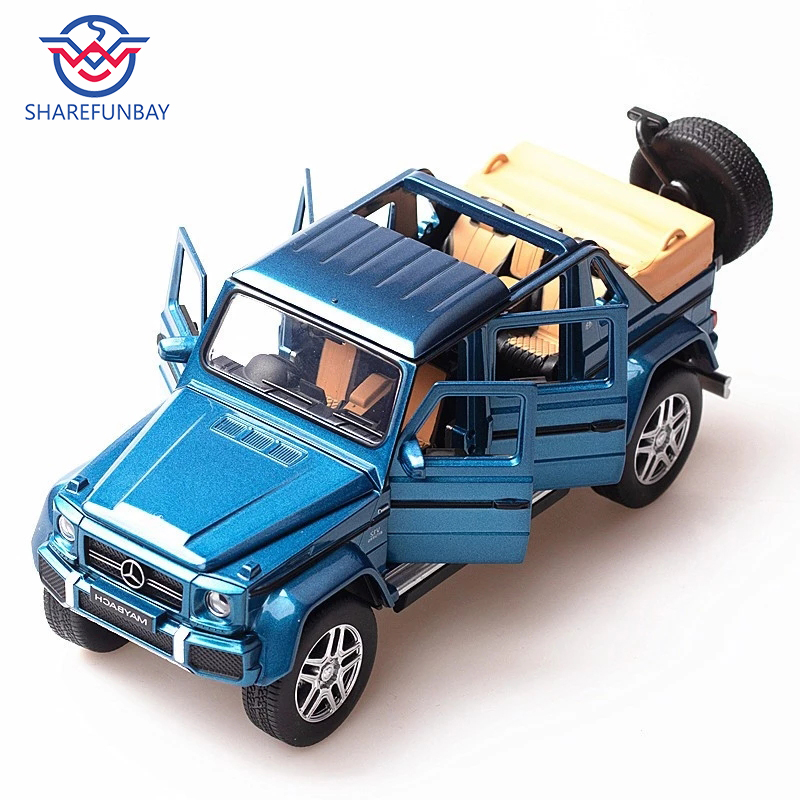Simulation Mercedes - Mercedes-Benz Maybach G650 Car Model Alloy Sound And Light Pull Back Car Toy Car