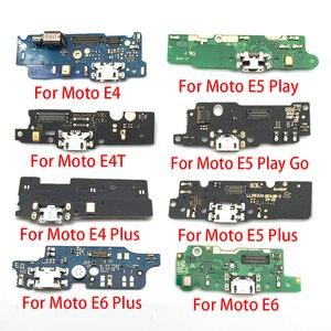 Image 1 - 100pcs,USB Charger Charging Dock Port Connector Flex Cable For Motorola Moto E3 E4 E4T E4 E6 E7 E5 G8 Plus E5 G8 Play Go Power