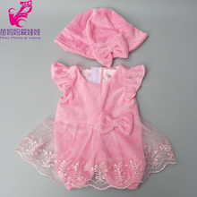 43cm Baby doll pinke lace dress clothes pants set for 18 inch girl