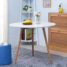 Модная круглая столешница в Северной Европе для маленькой семьи, креативный журнальный столик для отдыха, журнальный столик из твердой древесины
