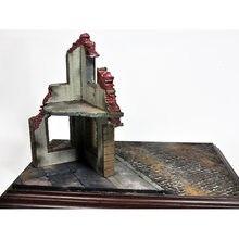 MagiDeal Diorama Militar Cenário Ruínas Edifícios Casa de Esquina 1/35 Mesa de Areia