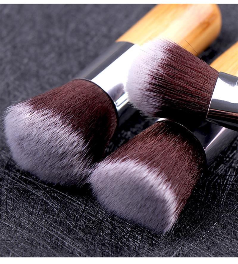 11 pçs de bambu pincéis de maquiagem